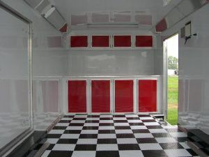 2 Trailer Cabinets Red