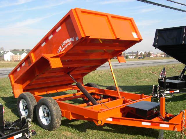 Trailer Superstore Orange Dump Trailer by CAM Superline