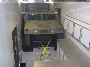 Trailer Superstore Custom Trailer for Boeing Company to Haul H1 Hummer