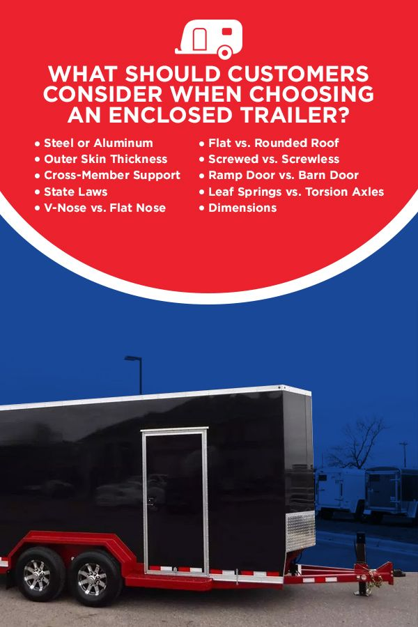 What Should Customers Consider When Choosing an Enclosed Trailer