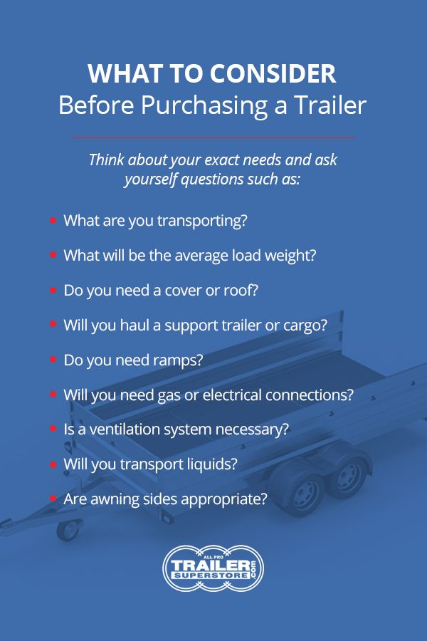 What to Consider Before Purchasing a Trailer