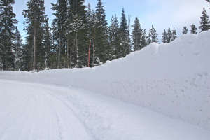snow covered road plowed shutterstock_8059045