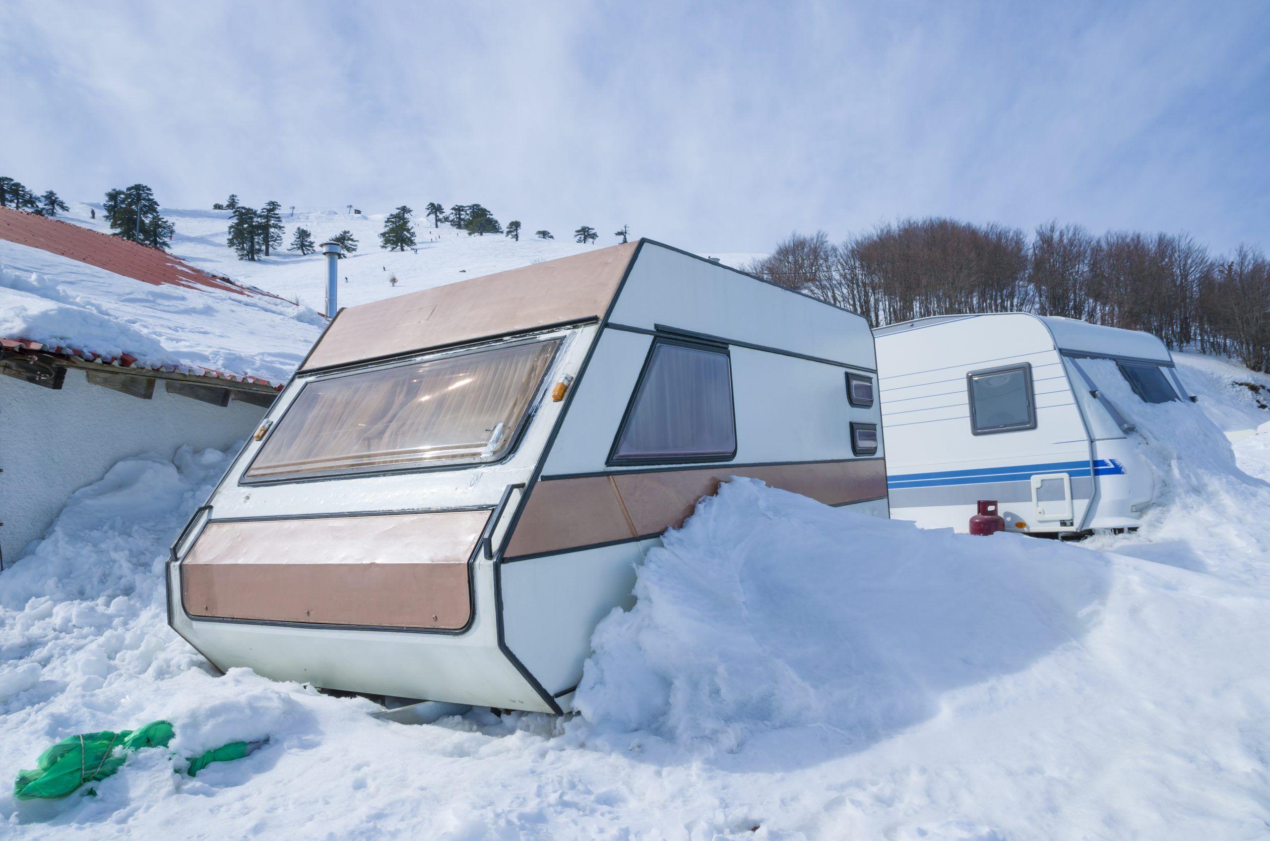 caravan trailer snow