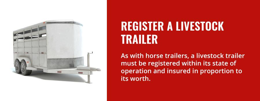 Register a Livestock Trailer