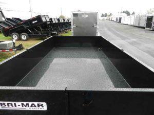 Top of low profile dump trailer