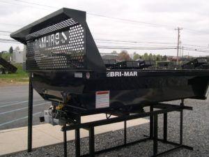 black dump bed trailer