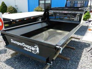 black dumper dog bed trailer
