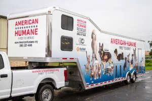 Custom design trailer for American Humane
