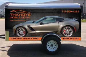 Custom design trailer for Thayer's Mobile Detail