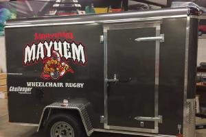 Custom design trailer for Maryland Mayhem