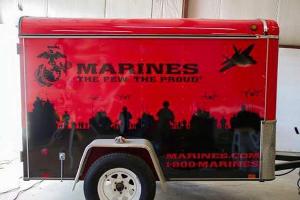 Custom design trailer for Marines