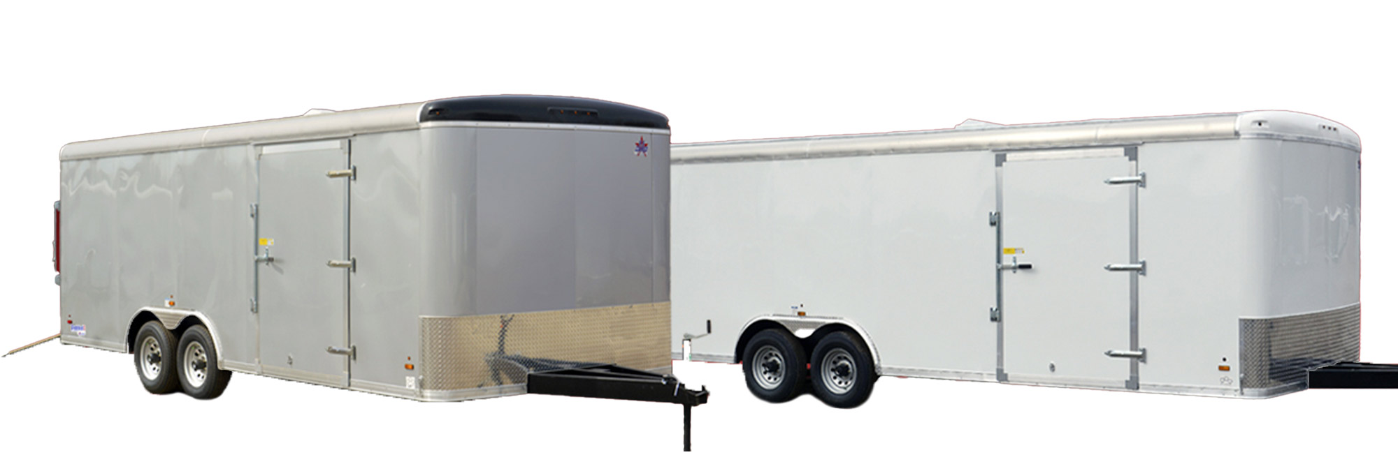 two US Cargo Trailers with side doors