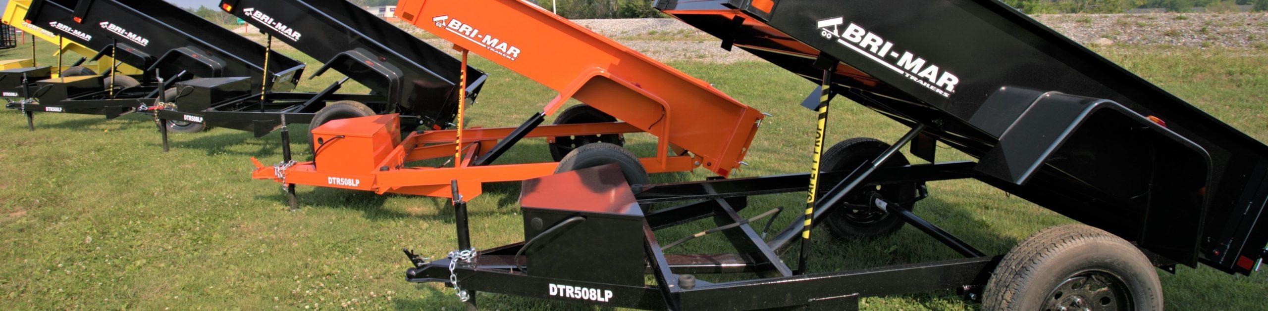 Dump trailer with hydraulics