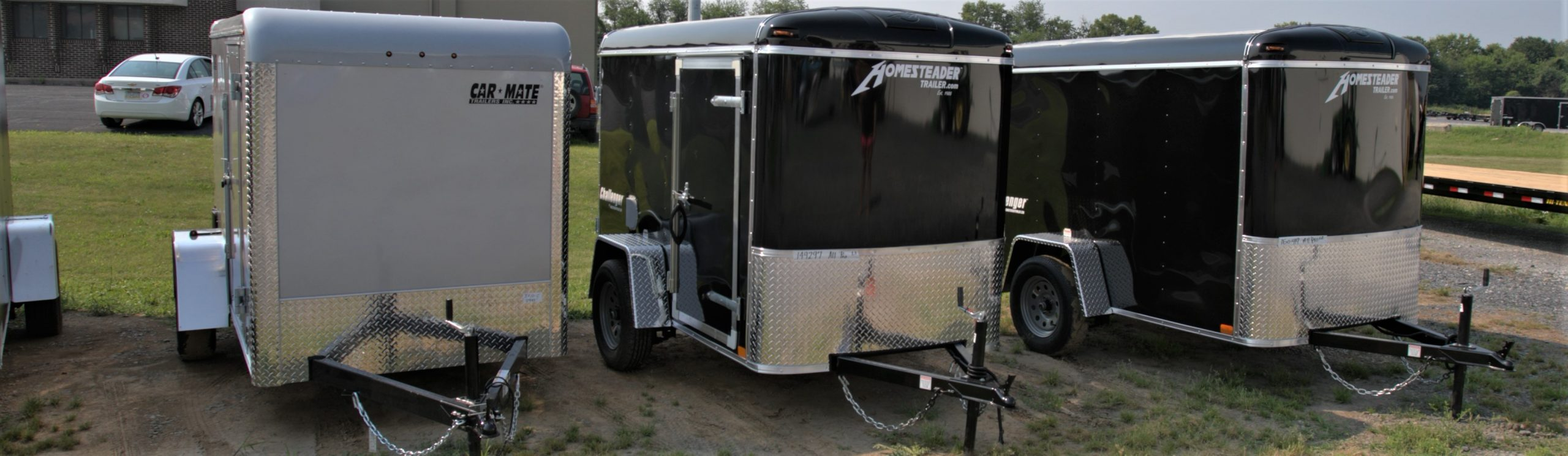 line of homesteader and car mate trailers