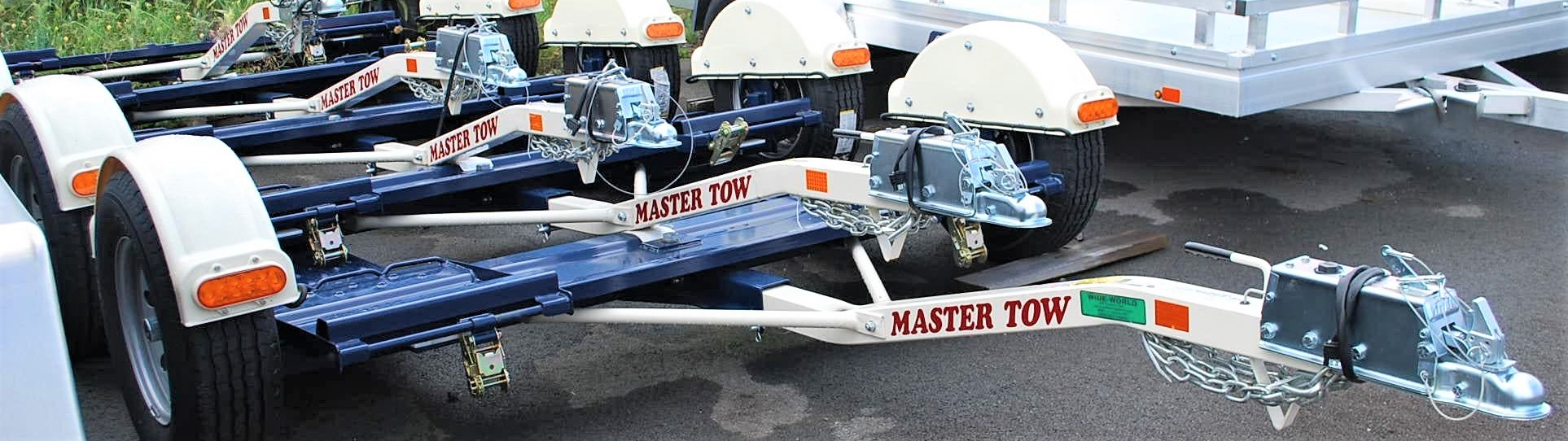 4 Master Tow dolly parked